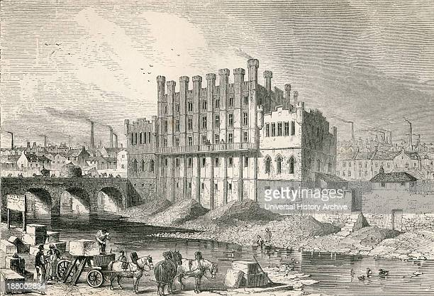 Exterior View The Castle Grinding Mill Sheffield South Yorkshire England In The 19Th Century From Cyclopaedia Of Useful Arts And Manufactures By...