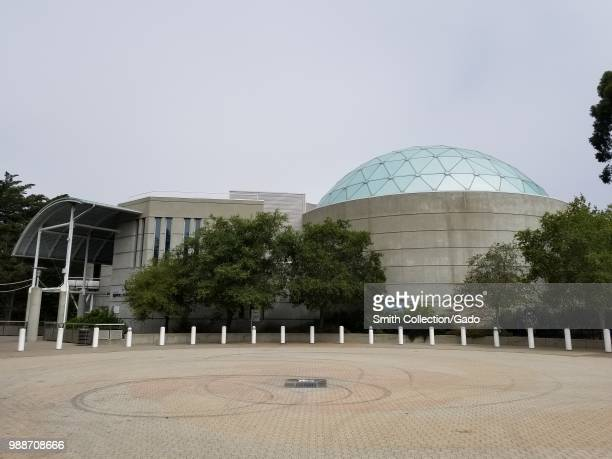 Exterior view with planetarium dome at the Chabot Space and Science Center a science museum in Oakland California June 27 2018