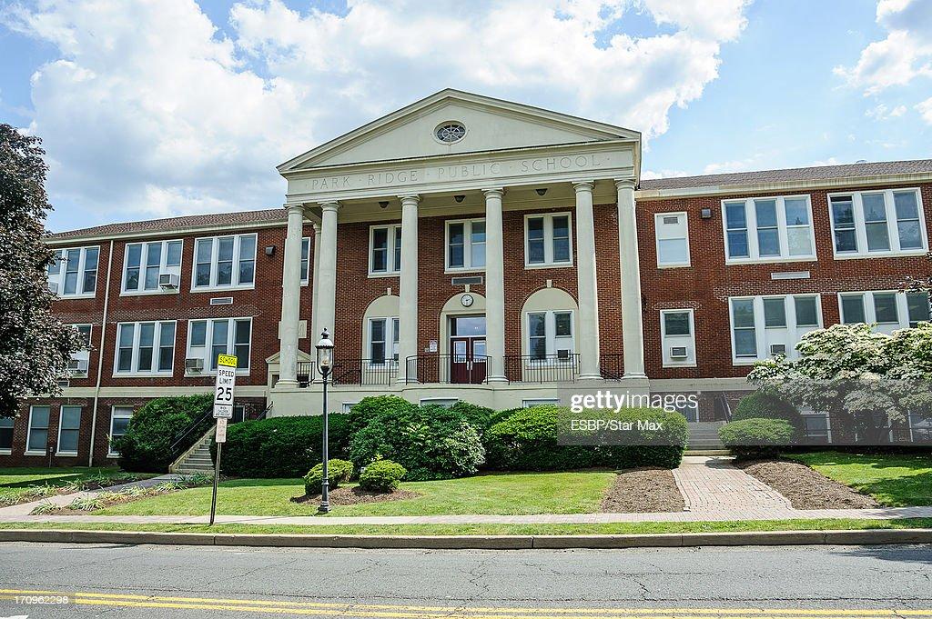 Exterior views of James Gandolfini's high school, Park Ridge High School, as seen on June 20, 2013 in Park Ridge, New Jersey.