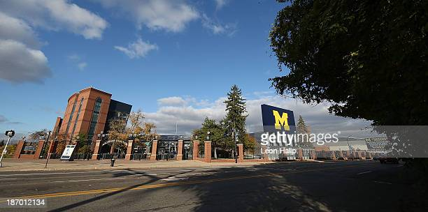Exterior views of Michigan Stadium on November 3 2013 in Ann Arbor Michigan
