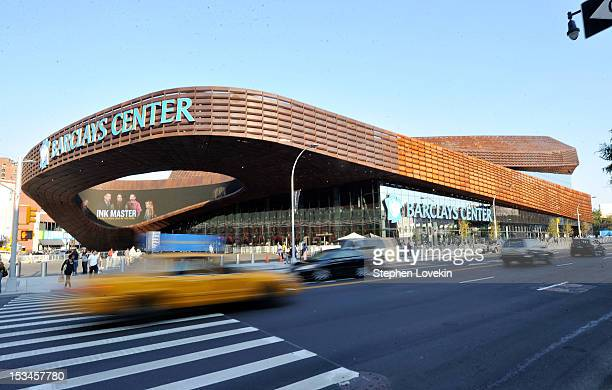 Exterior views of the Barclays Center on October 5 2012 in the Brooklyn borough of New York City