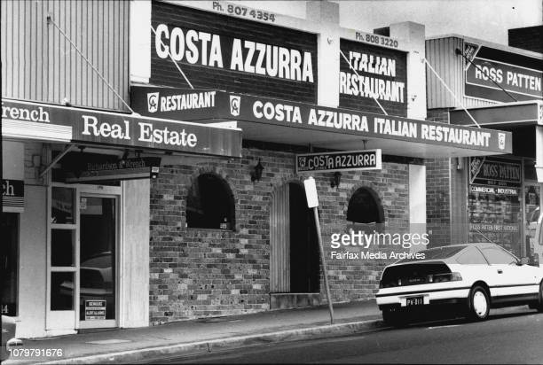 Exteriors of restaurant Costa Azzurra at 16 Church Street Top Ryde Centre of a conspiracy to murder someoneThe restarateur was getting in the way of...