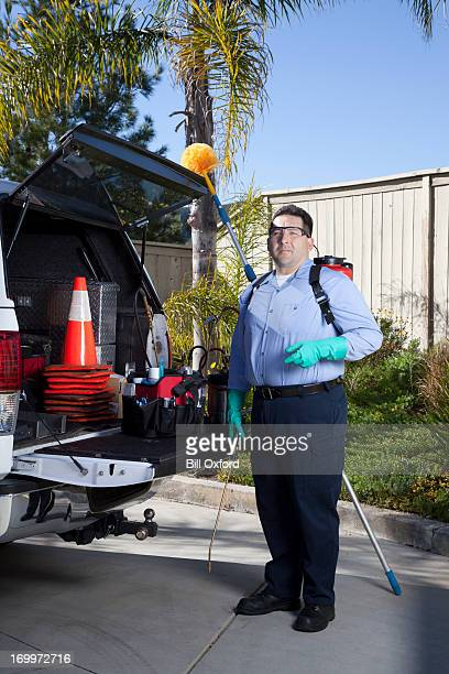 exterminator - pest stock photos and pictures