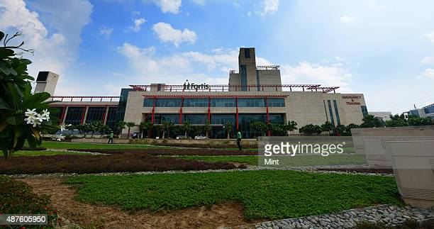 External view of state of the art Fortis Hospital on September 9 2014 in Gurgaon India