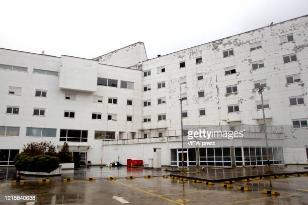 External View of the abandoned hospital of Saludcoop in Medellín Colombia on March 29 2020 The cleaning and adaptation works began to enable an...