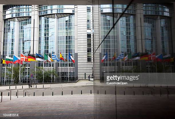 External view of the building of the European Union EU on September 10 2010 in Brussels Belgium