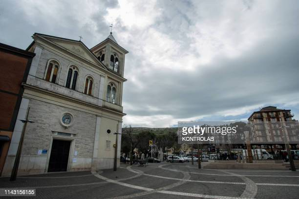 External view of the chuch Saint Annunziata in town of San Marco in Lamis Puglia region southern Italy