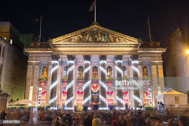 External view of The Dome during Light Night the event that celebrates the inauguration of Christmas Time in Edinburgh at George Street on November...