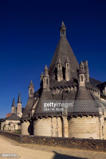 External view of the kitchens built in 1160 and renovated in 1904 Fontevraud abbey founded in 1101 by Robert d'Arbrissel Fontevraudl'Abbaye Loire...