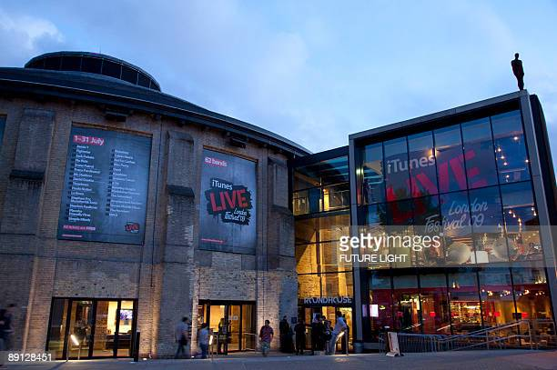 External view of The Roundhouse venue in Camden on July 19, 2009 in London, England.