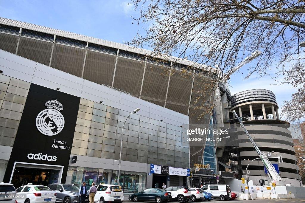 insondable 鍔 rodar  External view of the Santiago Bernabeu stadium taken on March 12,... News  Photo - Getty Images