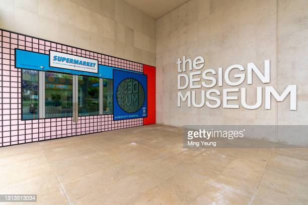 External view of the Supermarket installation by Bombay Sapphire and the Design Museum showcasing emerging artists who have designed essential items...