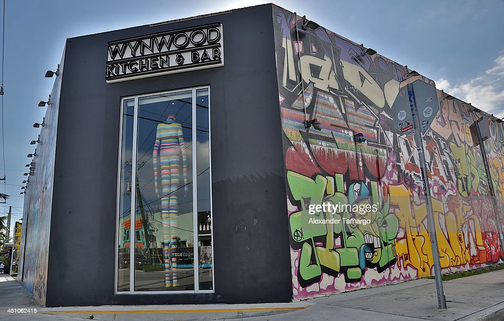 External view of Wynwood Kitchen & Bar in the Wynwood Art District on November 21, 2013 in Miami, Florida.