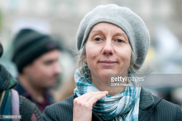 Extinction Rebellion campaigner Dr Gail Bradbroock Thousands of demonstrators from the new Extinction Rebellion climate change movement gathered at...