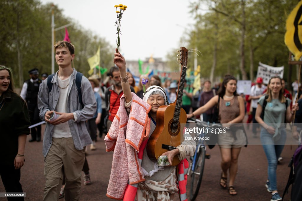 GBR: Extinction Rebellion Protesters March To Parliament Square As MPs Return