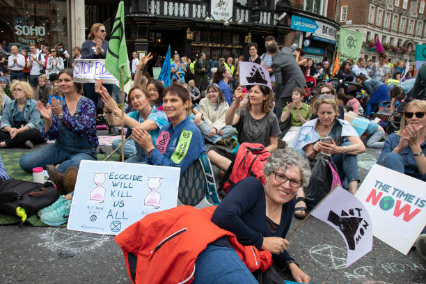 GBR: Extinction Rebellion Climate Change Action In London