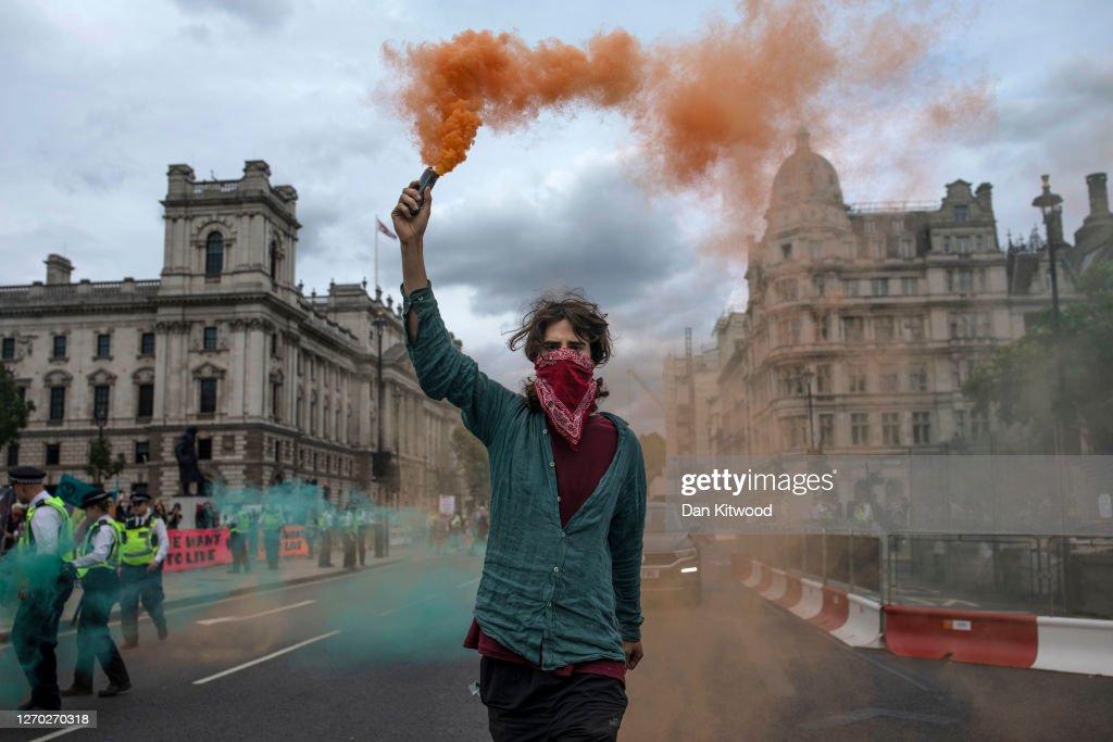 Extinction Rebellion Protests Resume After Pandemic Hiatus : News Photo