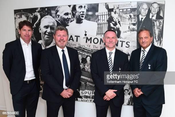 ExTottenham Hotspur players Darren Anderton Clive Allen Paul Allen and Gary Mabbutt pose prior to the Premier League match between Tottenham Hotspur...
