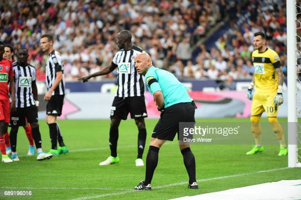 Extra assistant referee Amaury Delerue during the National Cup Final match between Angers SCO and Paris Saint Germain PSG at Stade de France on May...