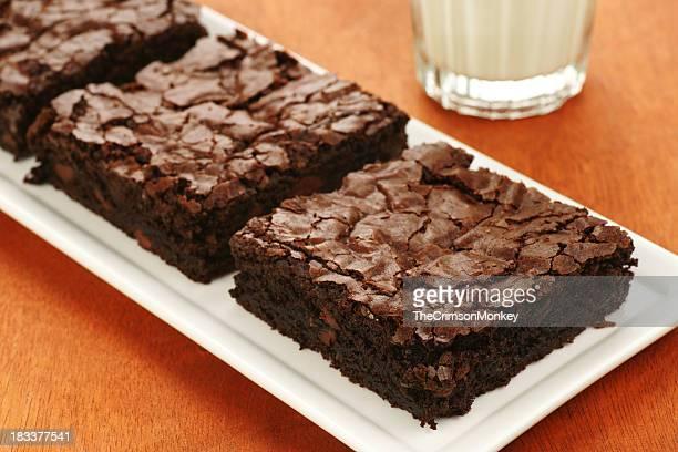Extra Dark Chocolate Brownies and Milk.