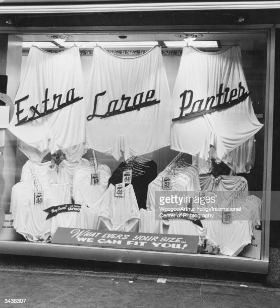 Extra large panties for sale in Los Angeles California for all shapes and sizes Photo by Weegee/International Center of Photography/Getty Images