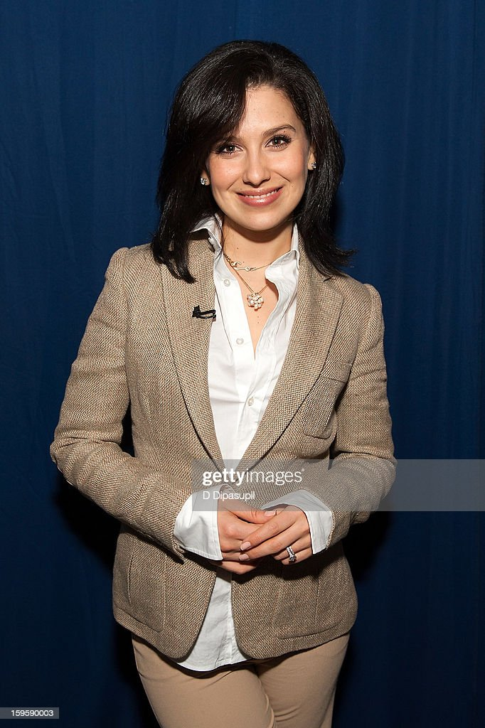 'Extra' Lifestyle Correspondent Hilaria Baldwin attends New Jersey Governor Chris Christie's 100th Town Hall Meeting at St. Mary's Parish Center on January 16, 2013 in Manahawkin, New Jersey.