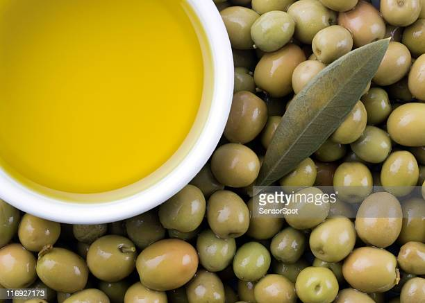 extra virgin pure olive oil and olives - extra virgin olive oil stock pictures, royalty-free photos & images