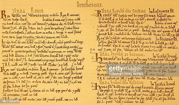 Extract from Domesday Book a manuscript record of the 'Great Survey' of much of England and parts of Wales by order of King William the Conqueror...