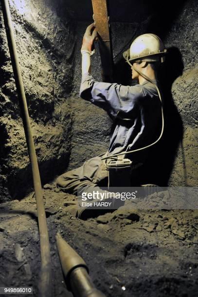 Extraction du charbon dans le Centre historique minier de Lewarde, ancienne fosse Delloye le 8 septembre 2012 a Lewarde, France.