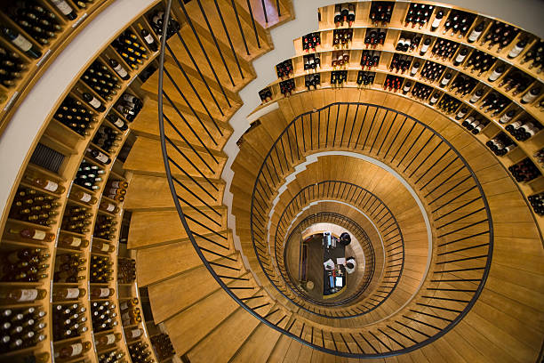 Extraordinary architecture in L'Intendant wine shop.