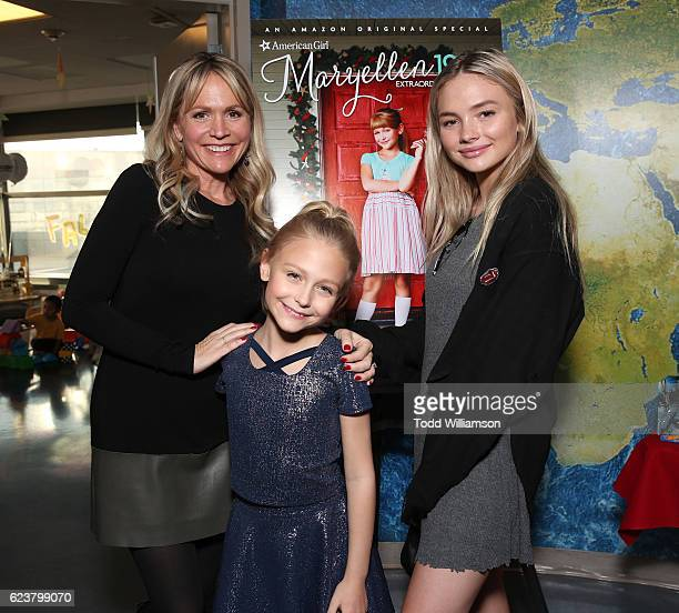 Barbara Alyn Woods Alyvia Alyn Lind and Natalie Alyn Lind attend an Amazon Original Special 'An American Girl Story Maryellen 1955 Extraordinary...