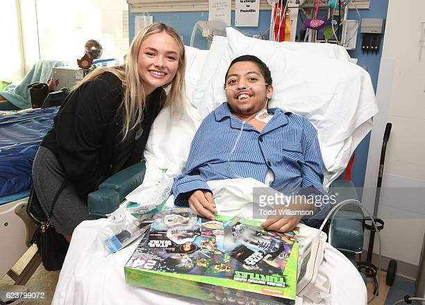 Natalie Alyn Lind visits Ali at an Amazon Original Special 'An American Girl Story Maryellen 1955 Extraordinary Christmas' Hospital Visit And...