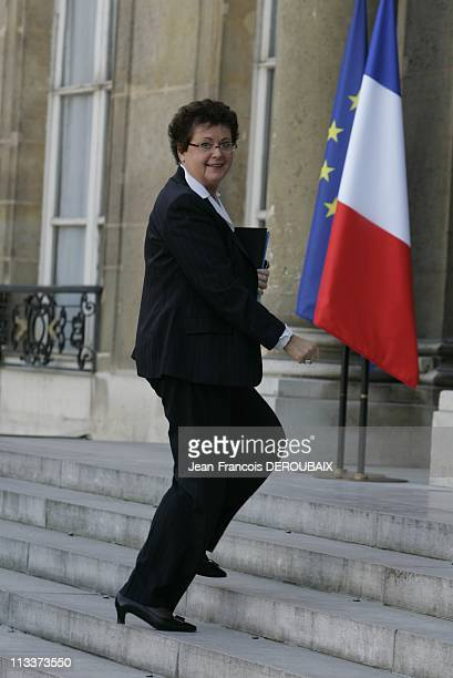 Extraordinary Council Of Minister To Announce A Recovery Plan For French Banks In Paris France On October 13 2008 Christine Boutin Minister for...