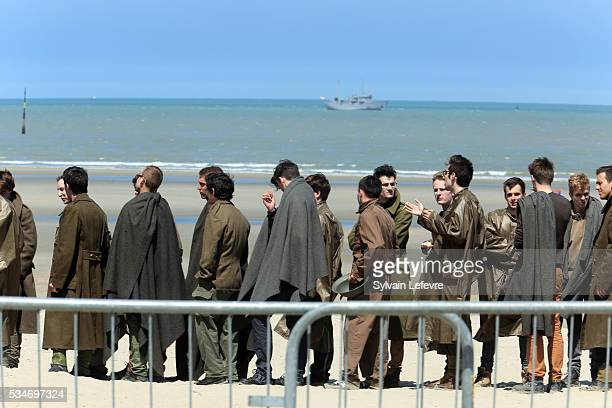 Extras on set on the beach on May 26 2016 in Dunkerque France