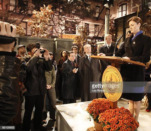 LIVE Extras Wayne Maugans Nicholas Rodriguez and Marissa Vitali in a scene that airs the week of November 30 2009 on Walt Disney Television via Getty...