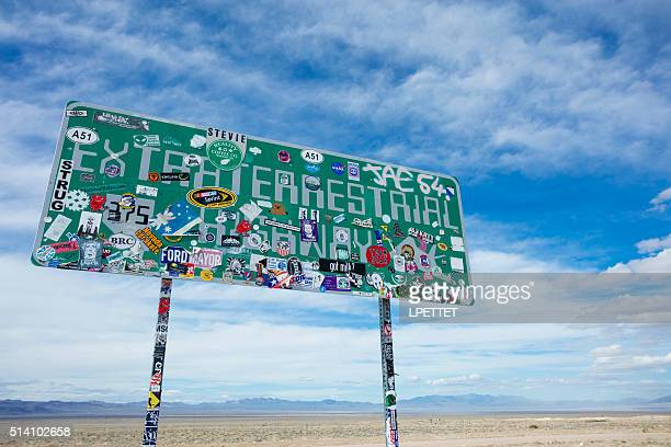extraterrestrial highway - area 51 stock pictures, royalty-free photos & images