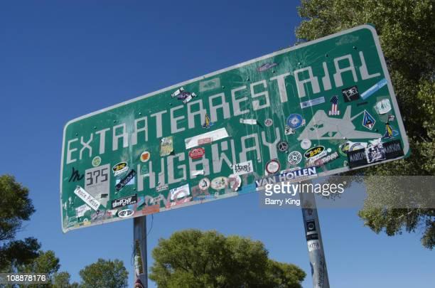 Extraterrestrial Highway Sign near Area 51 near Rachel Nevada