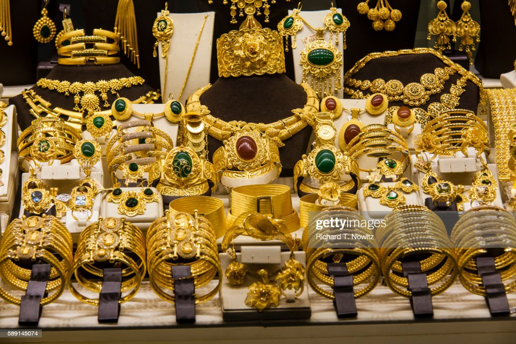 Extravagant Gold Jewelry For Sale Stock Photo Getty Images
