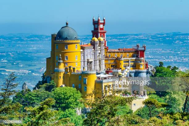 extravagant pena palace in sintra, portugal - palace stock pictures, royalty-free photos & images