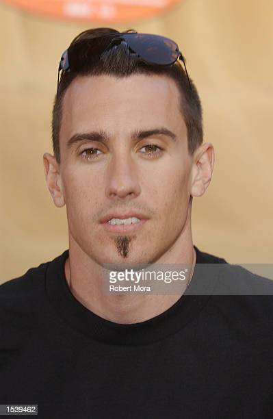 Extreme athlete Carey Hart attends ESPN's Ultimate X movie premiere May 6, 2002 in Universal City, CA.