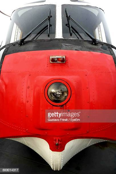 Extreme Close Up Of A Red Train