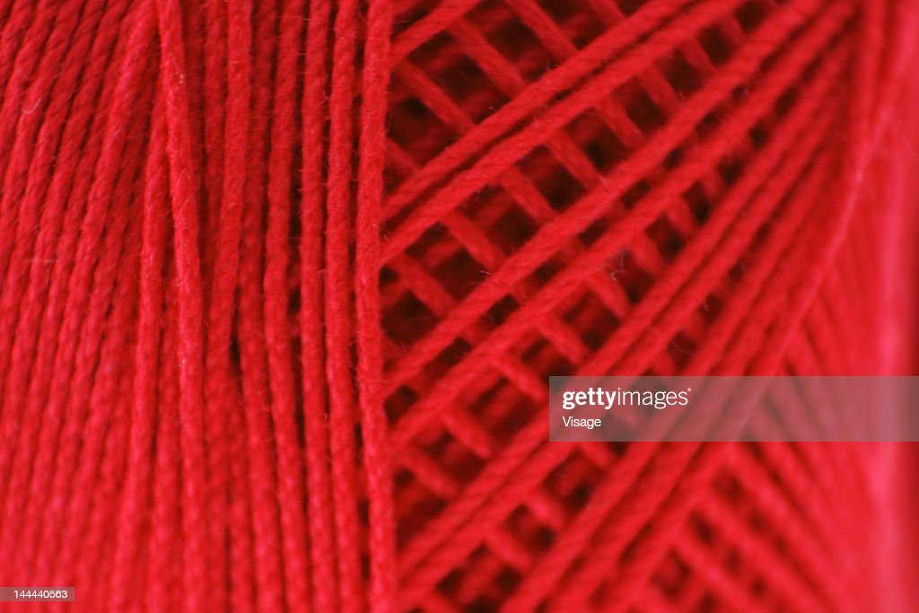 Extreme Close up of a thread spool : Stock Photo