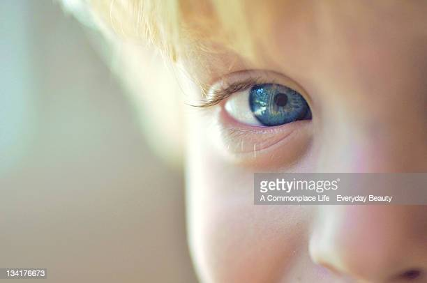 Extreme close up of boy