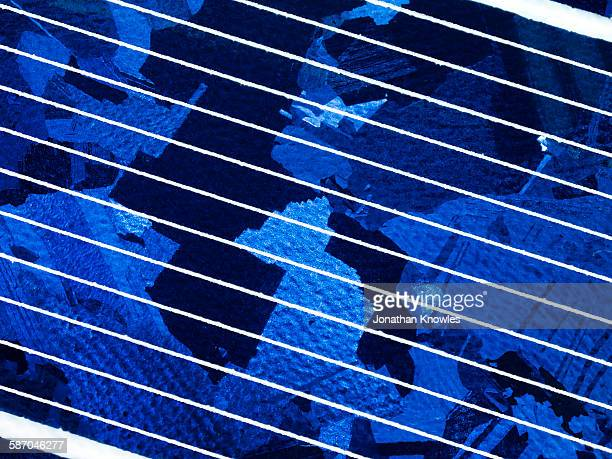 Extreme close up of solar panel