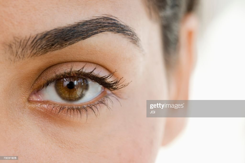 Extreme close up of woman's eye : Stockfoto