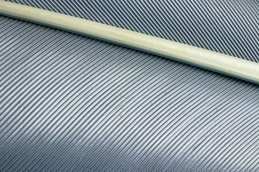 Extreme close-up of a gray bird feather - gettyimageskorea