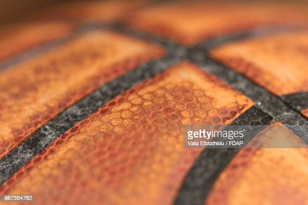 Extreme close-up of basketball