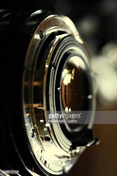 extreme close-up of camera lens - lens optical instrument stock photos and pictures