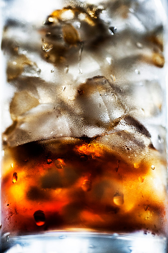 Extreme Close-Up Of Iced Coffee - gettyimageskorea