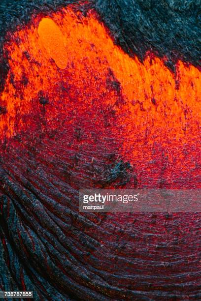 extreme close-up of lava flow on a mountain, hawaii, america, usa - lava stock pictures, royalty-free photos & images